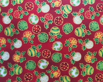 Christmas Baubles fabrics in 3 colourways