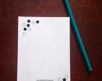 Cute Notepad - Small Notepad - Dots Notepad