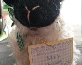 "Muffy Vanderbear Mary the Lamb ""Farm Friends"" with hangtag"