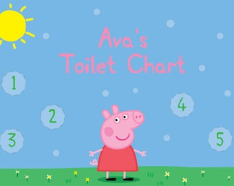 Printed & Laminated Personalised Peppa Pig Toilet Training Reward Chart