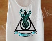 Harry Potter Expecto Patronum, harry potter shirts Womens, Custom Handmade Screen Print White Fancy harry potter Clothing Womens TShirts SML