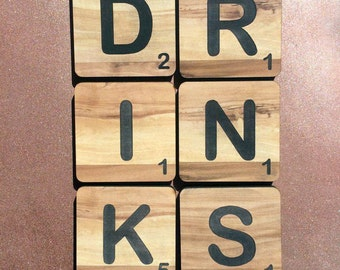 DRINKS | Scrabble Coasters (6x Pack)