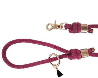 Dog leash - dog leash Paracord - Paracord dog leash - wine Burgundy Paracord leash - Burgundy leaves - Leash-