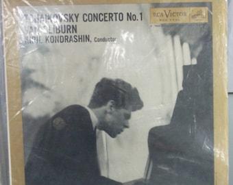 Van Cliburn, Tchaikovsky Concerto No. 1, Vintage Record Album, Vinyl LP, Classical Piano, Concert Piano Legend, Kiril Kondrashin Conductor