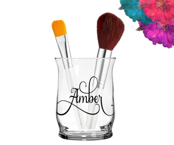 Personalized Makeup Brush Holder By LivisLoveBoutique On Etsy