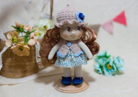 Amigurumi Doll Nose : Items similar to Amigurumi Doll With Tricot Face (nose and ...