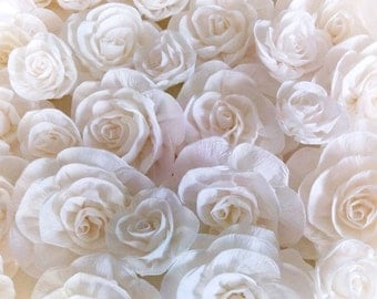 12 white giant crepe paper flowers large Photo backdrop Wedding Wall communion ceremony bridal baby shower arch flowers birthday party decor