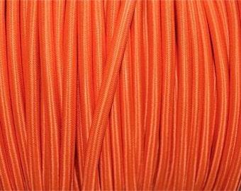 1 meter orange silk covered 3 core light flex B12