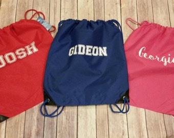 Personalized Cinch Bag