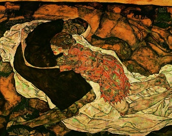 Egon Schiele:  Death and the Maiden. Fine Art Print/Poster. (003226)