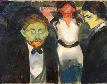 Edvard Munch: Jealousy. Fine Art Print/Poster (0075)