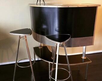 Mid century modern table lamp / Beehive lamp - Fifties lamp - Vintage lamp -Vintage Atomic Style Lamp - 1950's Decor Fifties Lamp