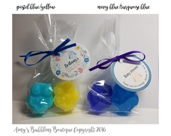 Owl Baby Shower Soap Party Favors - Gender Reveal Baby Shower or First Birthday Scented Soap Gifts - Pack of 10