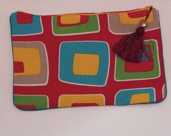 Multi-colored vintage inspired clutch