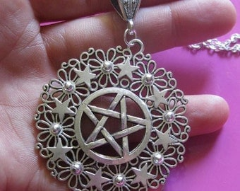pentacle Wiccan witch woman star protection talisman