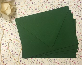 A7 Hunter Forest Green Euro Flap Envelopes - 25 pk