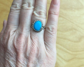 Turquoise Native American Ring -- 755