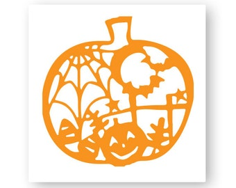 Pumpkin, Fall, Thanksgiving, Halloween, Illustration, TShirt Design, Cut File, svg, pdf, eps, png, dxf