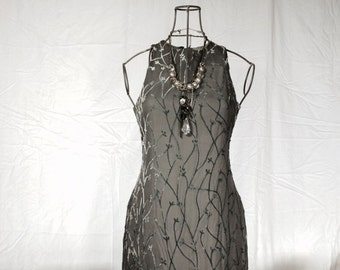 Vintage Grey and Silver Dress