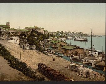 On the Dnieper, Kiev, Russia, (i.e., Ukraine)] 1890. Vintage photo postcard reprint 8x10-up.