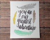 You Are Our Greatest Adventure Nursery Print// Baby Boy Room Decor// Tribal Inspired// Adventure Themed Nursery Print// Playroom Decor
