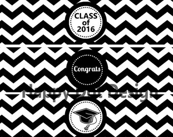 Printable Class of 2016 Graduation Party Water Bottle Labels