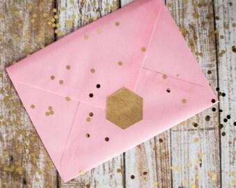 Blank hexagon brown kraft paper stickers