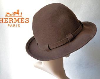 Vintage HERMES hat, wool