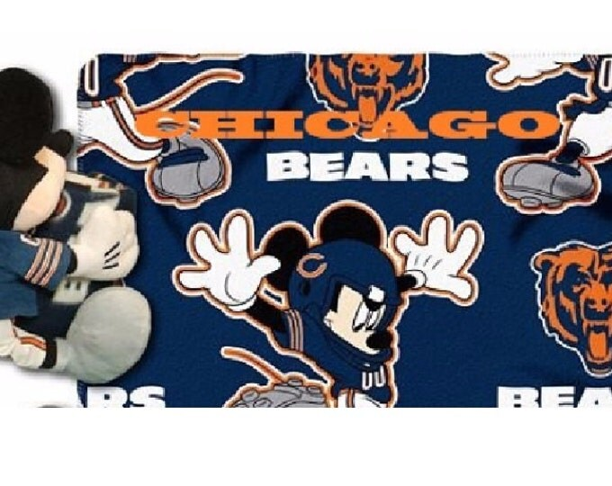 Football Chicago BEARS Fleece Throw Blanket & Mouse Hugger - Personalized