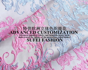 """New Top Exquiste 3D Customized Jacquard Apparel Dress Fabric 59"""" Wide Sold by Yd"""