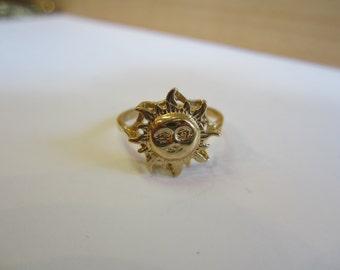 Gold Sunshine Ring, 10k Yellow Gold Sunshine Jewellery