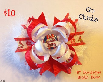 St. Louis Cardinals Stacked Boutique Bow