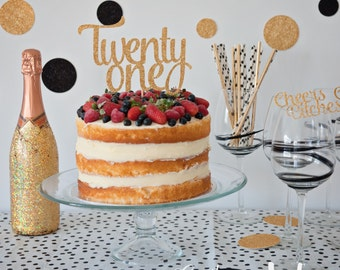 Twenty one cake topper, Birthday Cake Topper