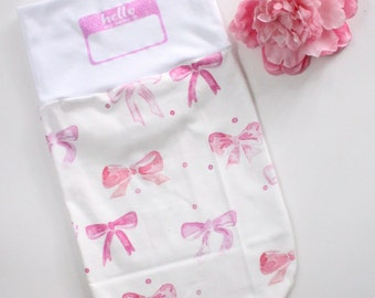 Baby swaddle, Swaddle, Cocoon, Sleep Sack, Newborn, Personalized, Take Home Outfit, Hospital Bag, Baby Name, Name Blanket, Take Home Outfit