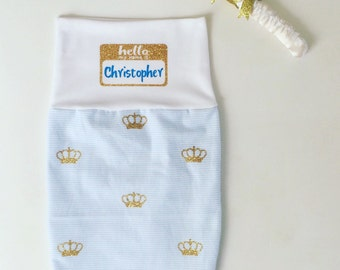 Little prince, baby boy swaddle, boys personalized swaddle, baby name reveal, baby swaddle, baby blanket, prince blanket, take home outfit