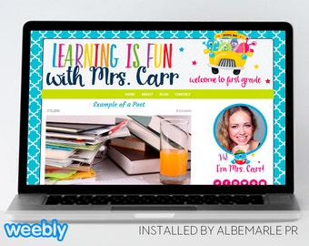 Premade Weebly Template Teacher Blog Classroom Lessons - Mrs. Carr