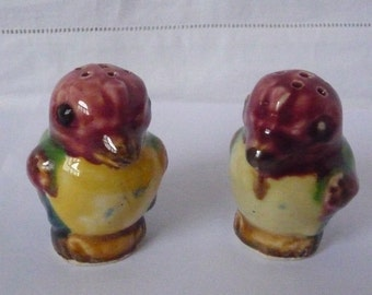 Pair of Cute Early 20thc. Japanese Pepper Pots