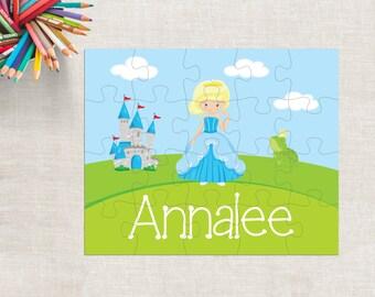 Princess Puzzle, Personalized Princess Puzzle, Custom Princess Puzzle, Name Princess Puzzle, 20 Piece Princess Puzzle, Kids Name Puzzle