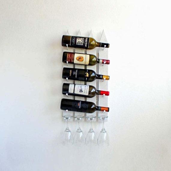 Wall Mounted Wine Rack, Wood Wine Rack, Hanging Wine Rack, Unique Wine Rack