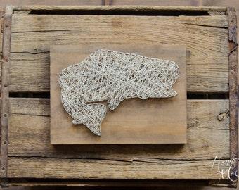 Bass Fish String Art, Wood Decor, Home Decor, Cabin Decor, Lake Cottage Decor