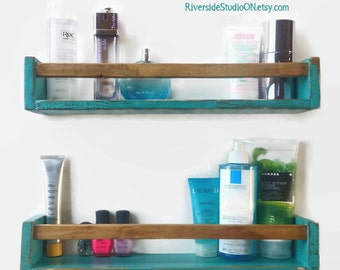 Modern Rustic Floating Shelf, Wooden Bathroom Shelves, Gallery Shelves,  Entryway Shelf / Pallet