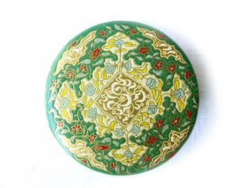 Powder box vintage Coty Paris Emerald unused 1930 - former compact collection - ancient powder makeup French