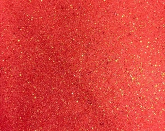 Coral Glitter Vinyl 9 x 12 Inch Sheet NOT WASHABLE