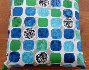 Fantastic 1960's printed cotton fabric made into cushions