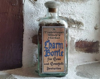 Witch Bottle, traditional witchcraft, threshold magic, European folk magic, gypsy magic, English folklore, new home gift
