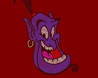 Disney Aladdin's Genie Inspired Rhinestone Iron On Transfer Hot Fix Bling