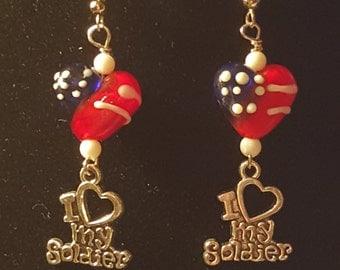 Patriotic earrings(Red,White,Blue)
