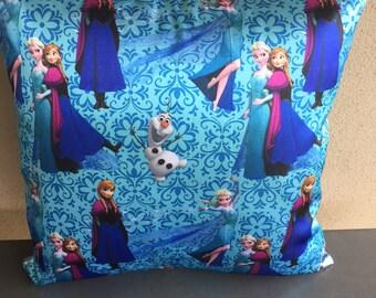 Frozen Satin Cushion Cover