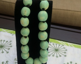 Handmade ceramic beads, necklace