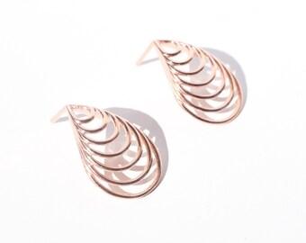 Teardrop Earrings | studs minimal jewelry geometric designer